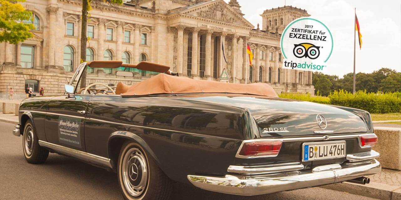 Private Sightseeing Tours Berlin in a vintage Mercedes convertible